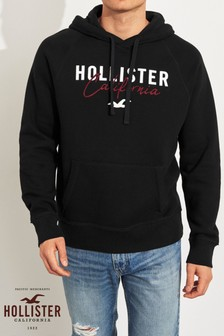 Hollister Black Logo Hoody