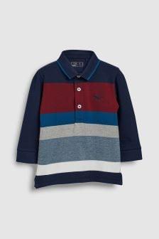 Рубашка поло в полоску с длинными рукавами (3 мес.-6 лет)