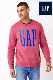Gap Large Logo Crew Neck Sweatshirt