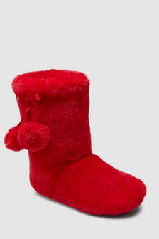 Pom Pom Slipper Boots (Older)