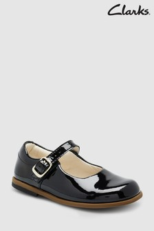 Clarks Black Leather Patent Mary Jane First Shoes
