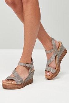 Chaussures compensées asymétriques