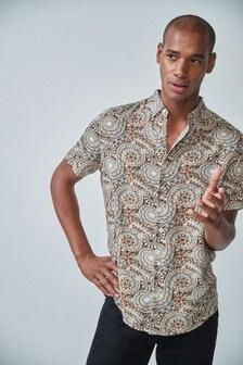 Ornate Print Regular Fit Shirt