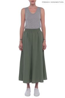 French Connection Green Ellesmere Drape Culotte