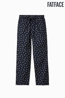 FatFace Blue Bicycle Print Lounge Pant