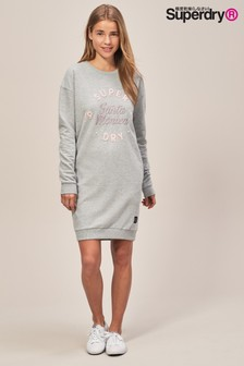 Superdry Grey Sweat Dress