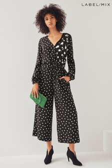 Next/Mix Ditsy Floral Print Jumpsuit
