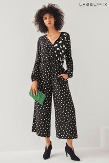 Next/Mix Ditsy Floral Print Jumpsuit