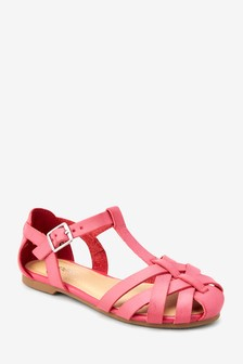Плетеные туфли с Т-образным ремешком (Подростки)