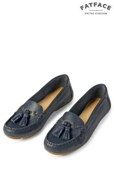 Fat Face Navy Ailby Tassel Moccasin