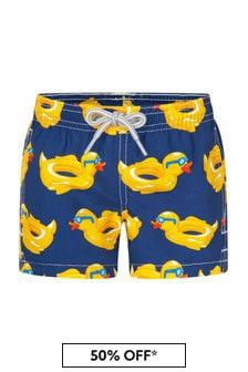 MC2 Saint Barth Boys Navy Swim Shorts