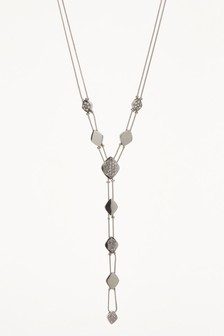 Sparkle Effect Bead Mid Length Necklace