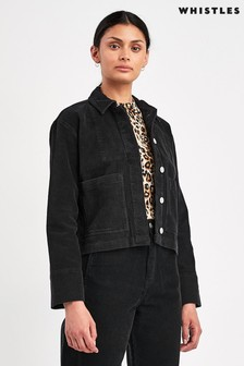 Whistles Black Corduroy Jacket