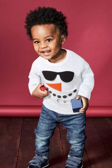 Long Sleeve Snowman T-Shirt (3mths-6yrs)