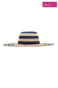 Joules Natural Shade Embroidered Sun Hat