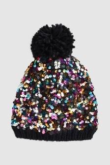 Sequin Pom Hat