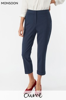 Monsoon Ladies Blue Victoria Turn-Up Trouser