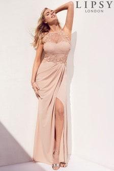 Платье макси с 3D цветами Lipsy