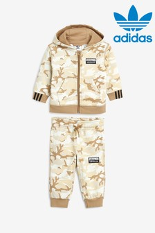 adidas Originals Infant Brown Camo Hoody And Jogger Set