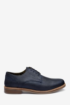 Waxy Finish Derby Shoes
