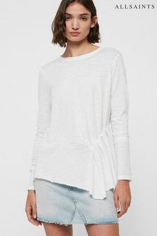 AllSaints Pale Pink Gathered Duma Top
