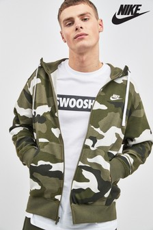 Nike Club Camo Zip Through Hoody