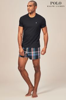 Polo Ralph Lauren Black/Green PJ Short Set