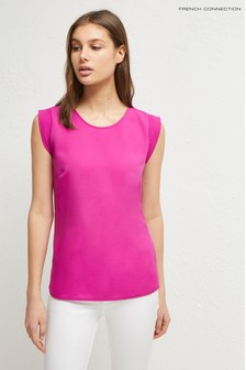 French Connection Pink Cap Sleeve Top