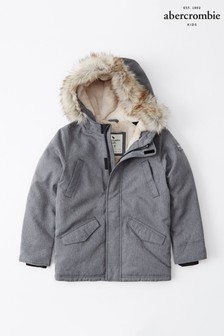 Abercrombie & Fitch Grey Parka Coat