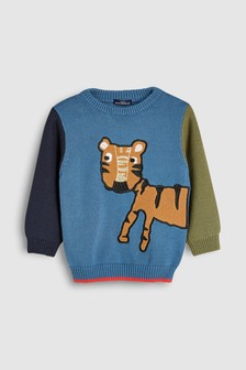 Tiger Textured Crew (3mths-6yrs)