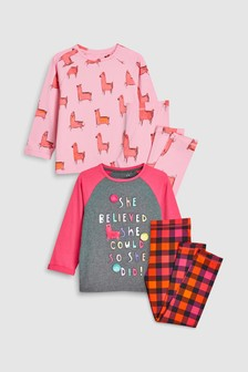 Llama Legging Pyjamas Two Pack (3-16yrs)