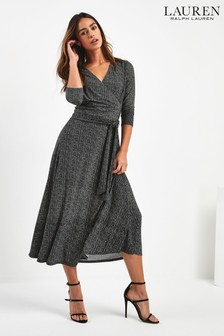 Lauren Ralph Lauren® Black Tweed Effect Carlyna Midi Dress