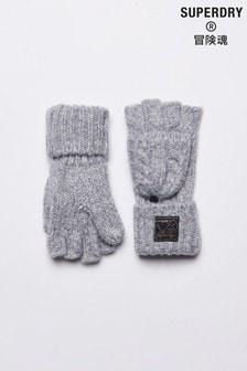 Superdry Tweed Cable Gloves