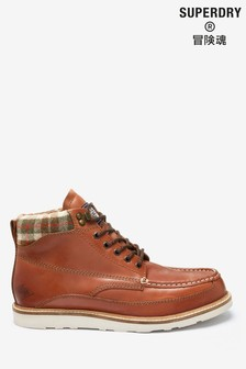 Superdry Tan Mountain Boots