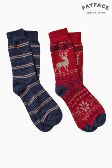 FatFace Red Stag Mallory Socks Two Pack