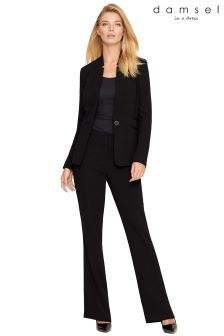 Damsel Black City Suit Trouser