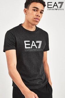 EA7 Grey Chest Logo T-Shirt