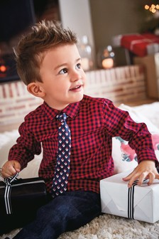 Gingham Check Shirt And Tie (3mths-6yrs)