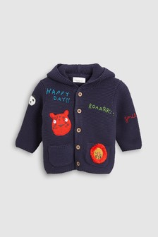 Embroidered Character Cardigan (0mths-2yrs)