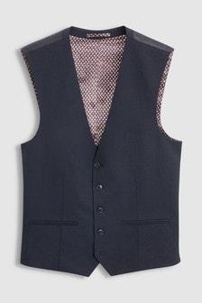 Жилет от костюма из эластичной смесовой шерсти