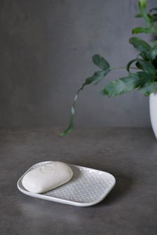Lustre Embossed Soap Dish