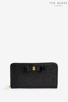 Ted Baker Black Bow Zip Clutch Bag