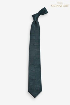 Geometric Signature Silk Tie