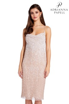 299e8dce5c0 Adrianna Papell Pink Slip Beaded Dress