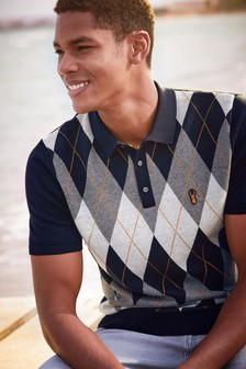 Argyle Knitted Polo