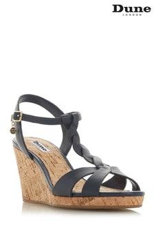 Dune London Navy Leather Shoe