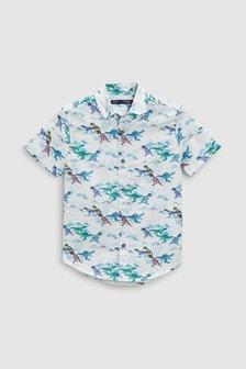 Short Sleeve Dino Print Shirt (3-16yrs)