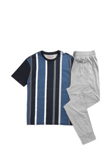 Vertical Stripe Pyjamas Set