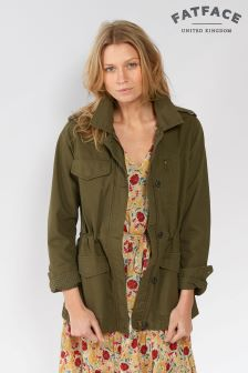 Fat Face Khaki Suffolk Cotton Jacket