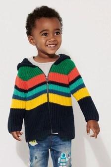 Rainbow Zip Through Hoody (3mths-6yrs)
